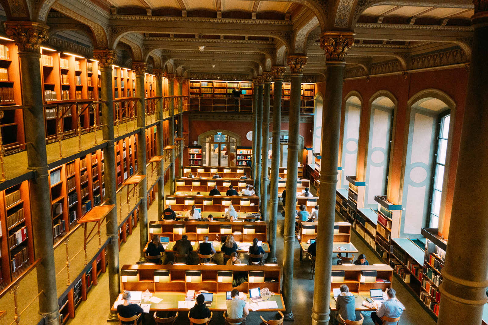 reading room at the national library of sweden