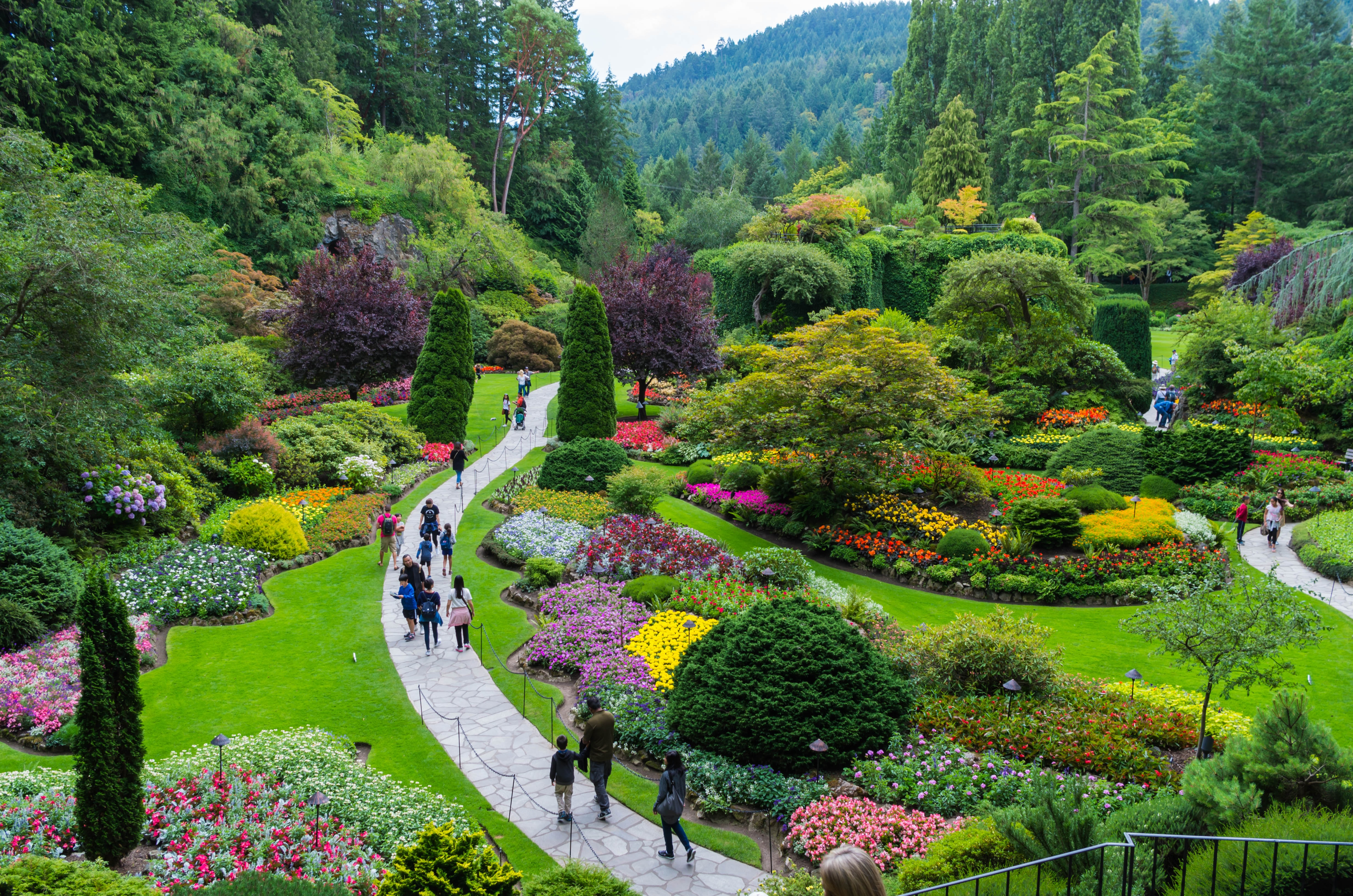 butchart gardens  in brentwood bay, canada