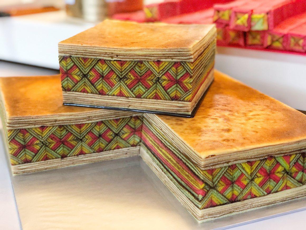 colorful malaysian kek lapis sarawak cakes