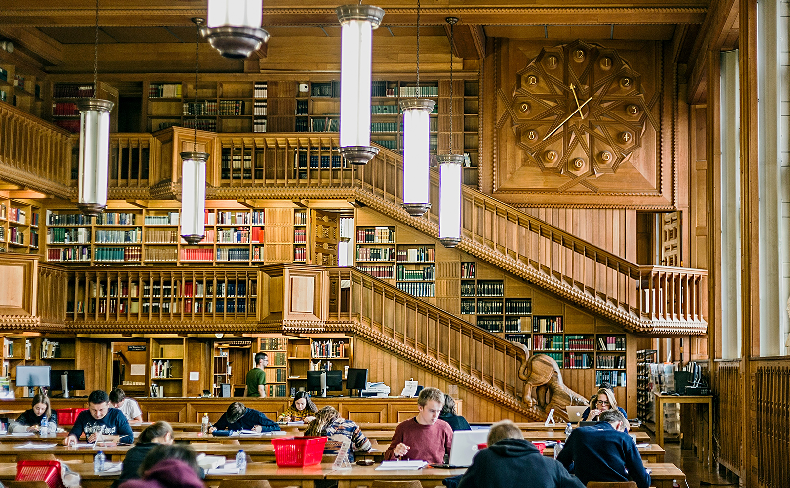 reading room in the library at the university of leuven in belgium