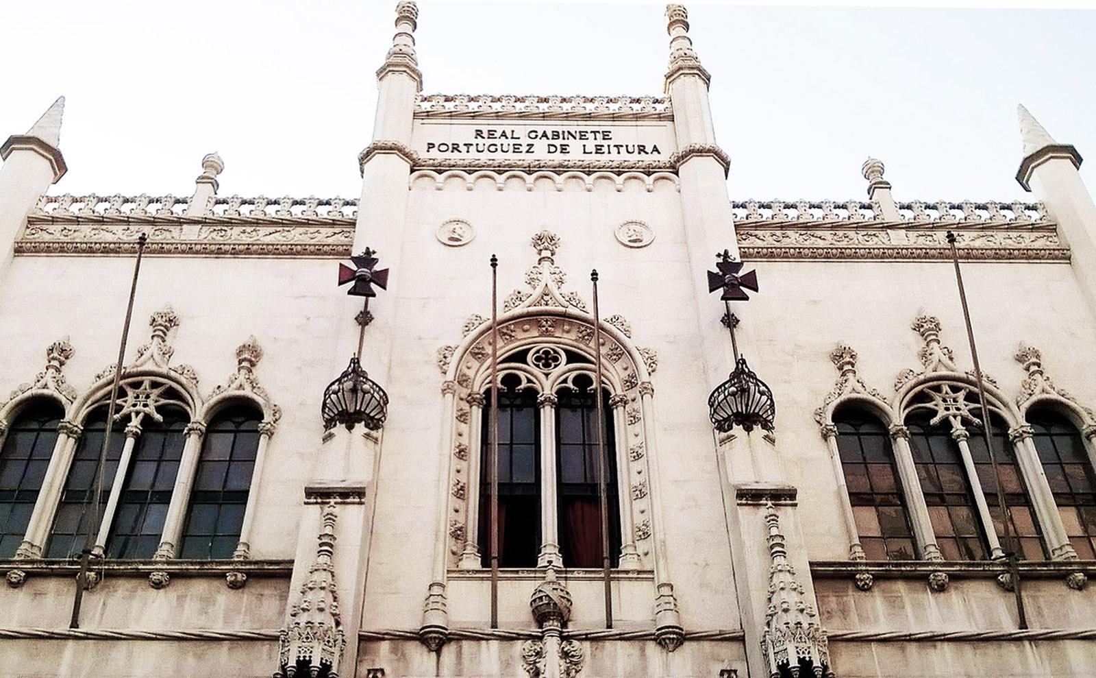 facade of the royal portuguese reading room