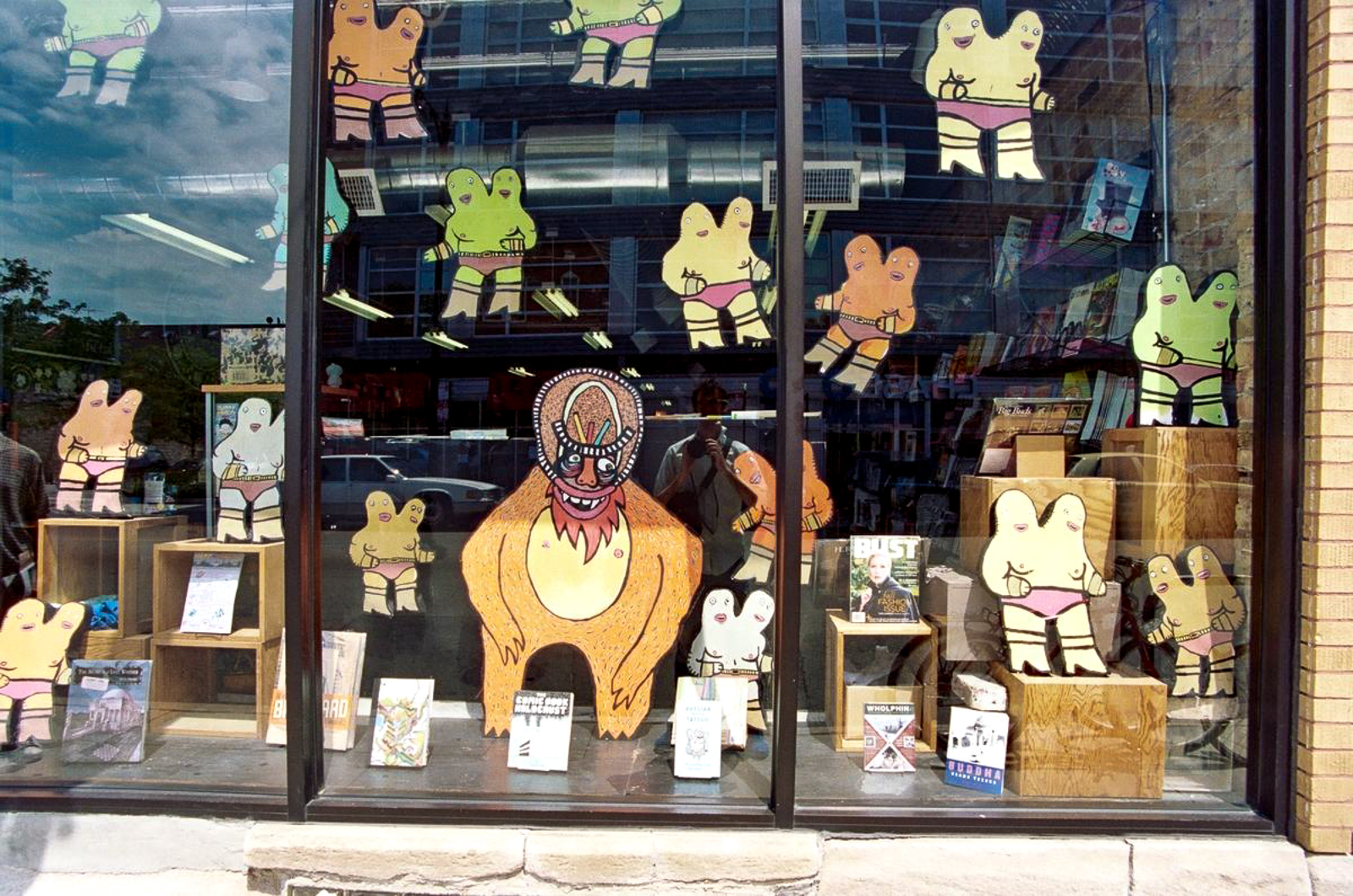 window display at quimby's