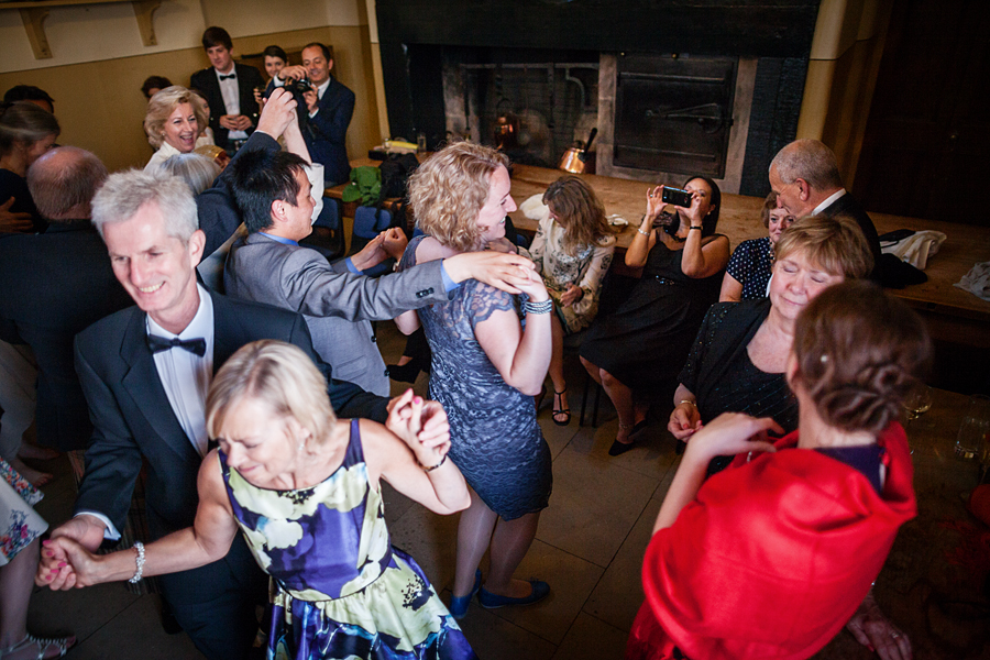 Dancing  guests at Culzean Castle Wedding