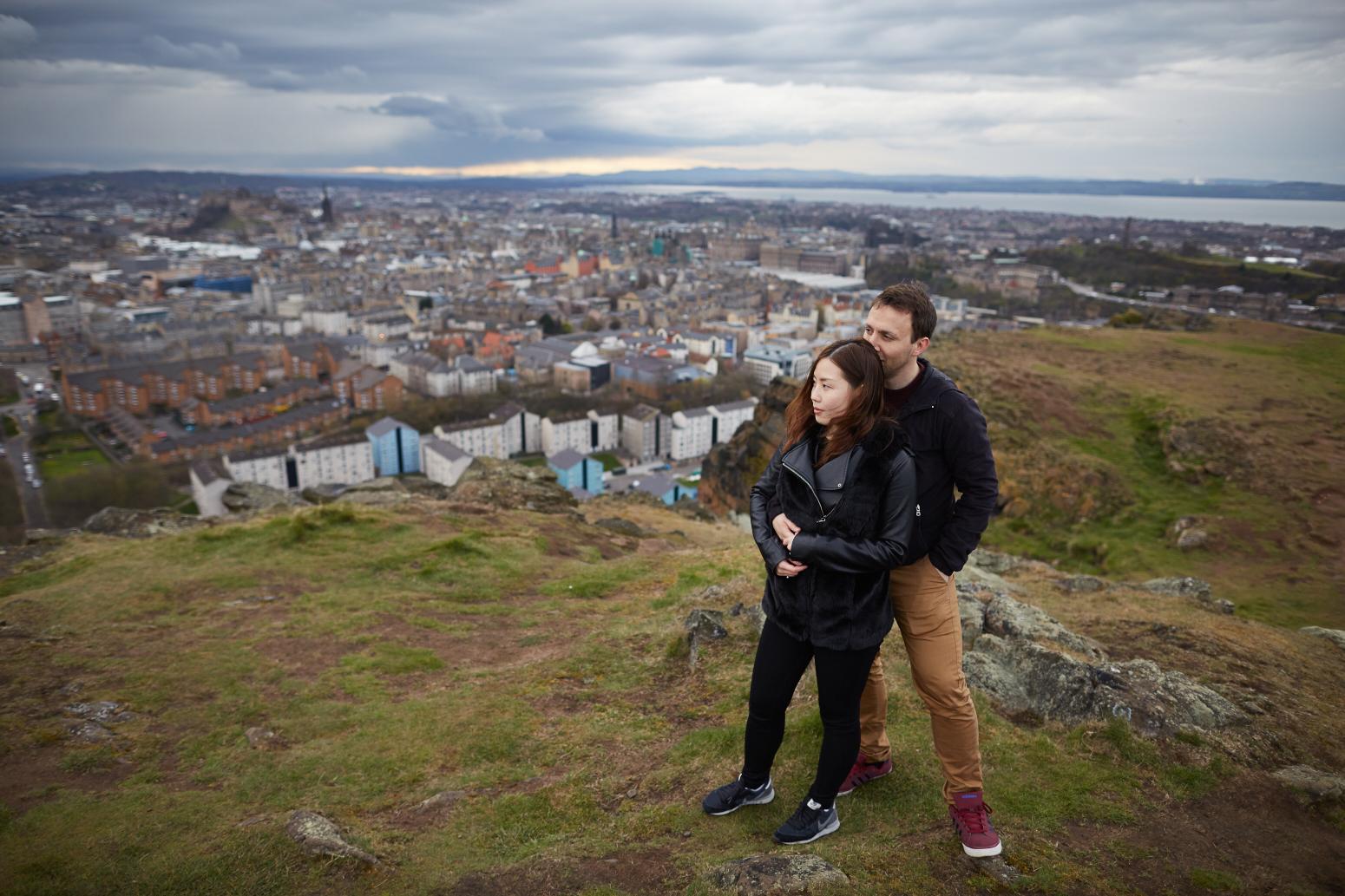 Fantastic couple photo session Edinburgh, Scotland
