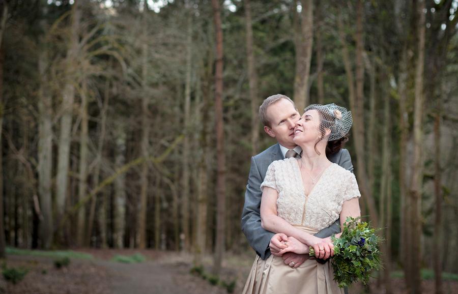 Edinburgh wedding photographer capturing bride and groom's portraits at Cringletie House