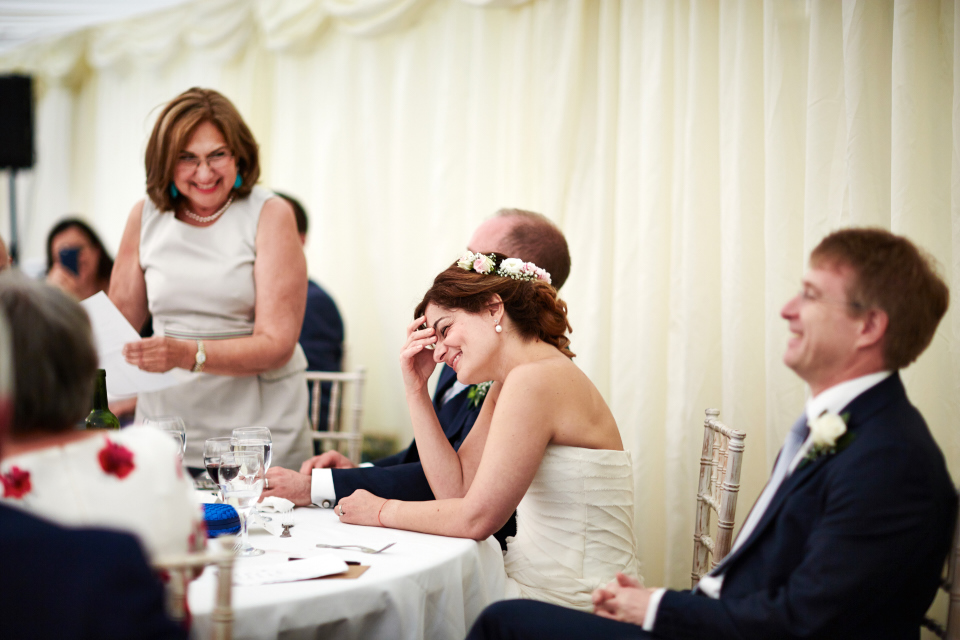 Speeches at Eastwood House wedding