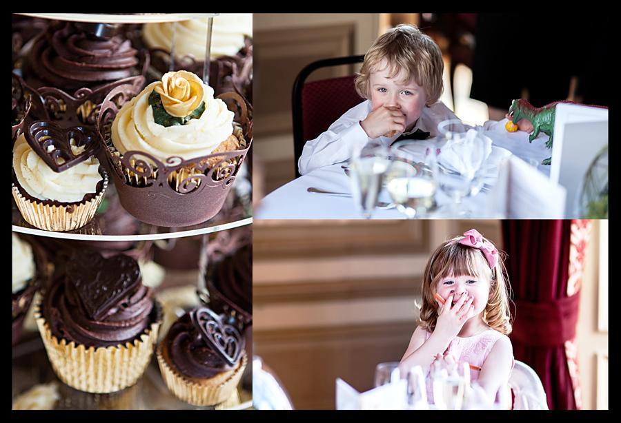 Kids during the wedding reception at Cringletie House near Edinburgh