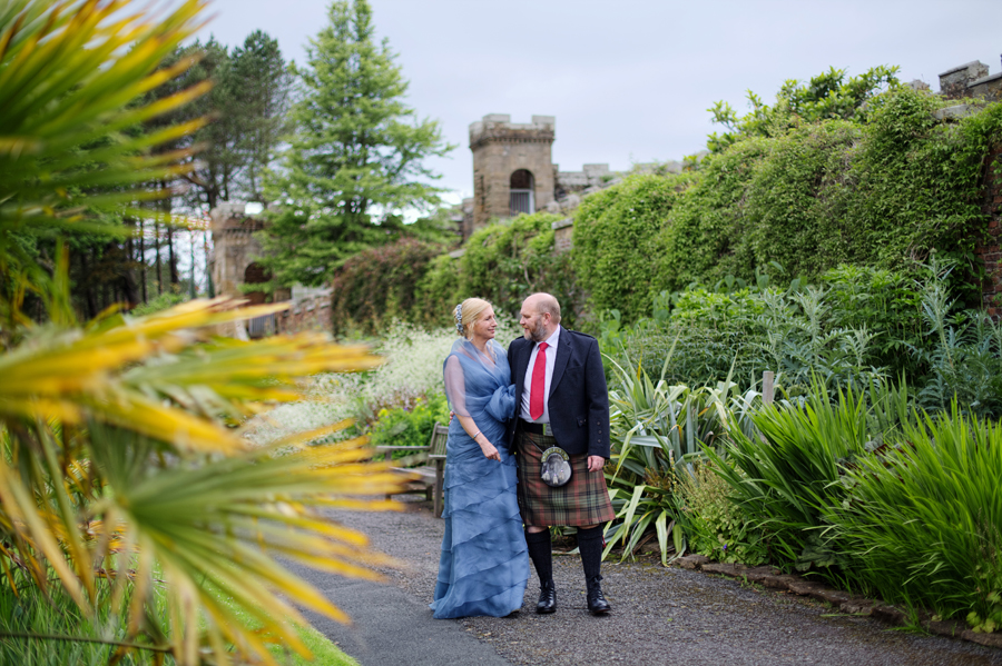 lovely couple in the gardens of Culzean Castle