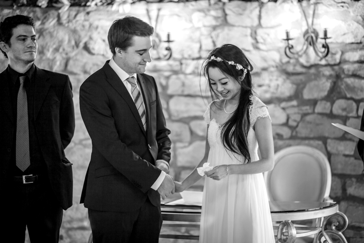 Wedding ceremony at Harburn House filled with emotions