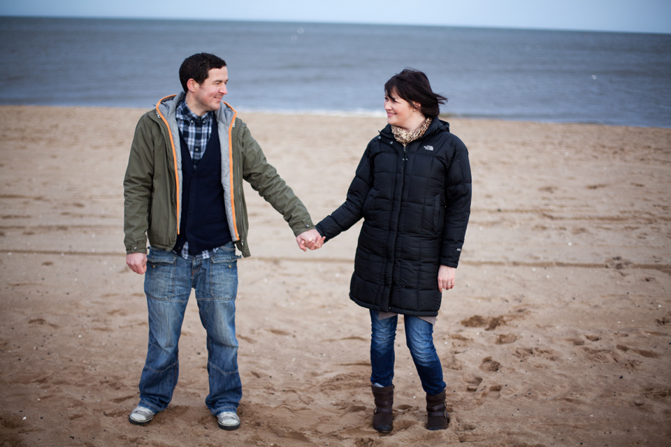Seaside couple sessions Scotland