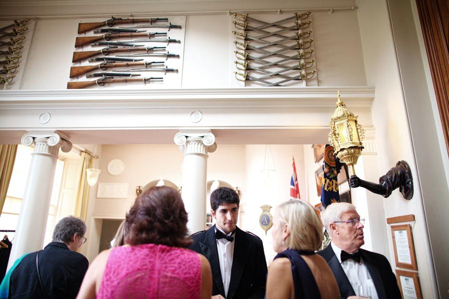 Drinks reception at Culzean Castle wedding celebrations