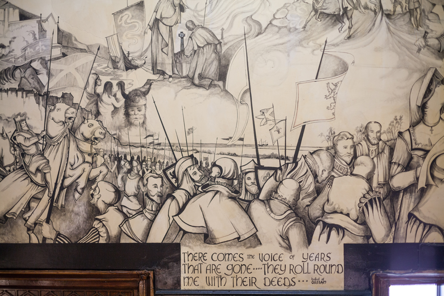 Paintings at  Dalhousie Castle near Edinburgh