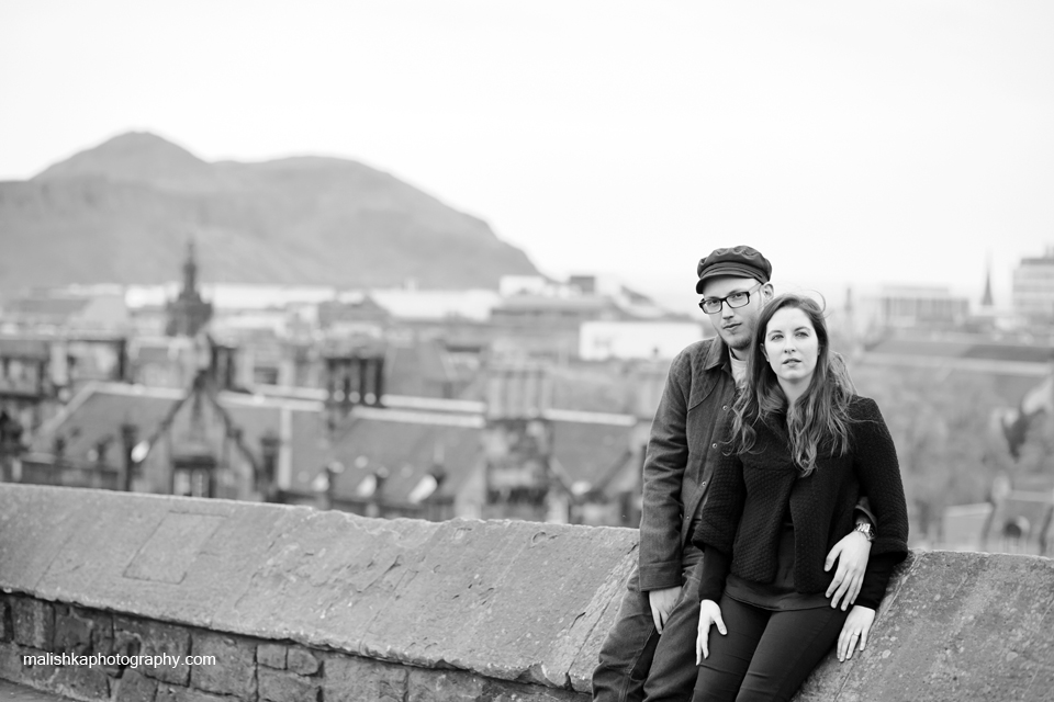Lovely couple during portrait session in Edinburgh