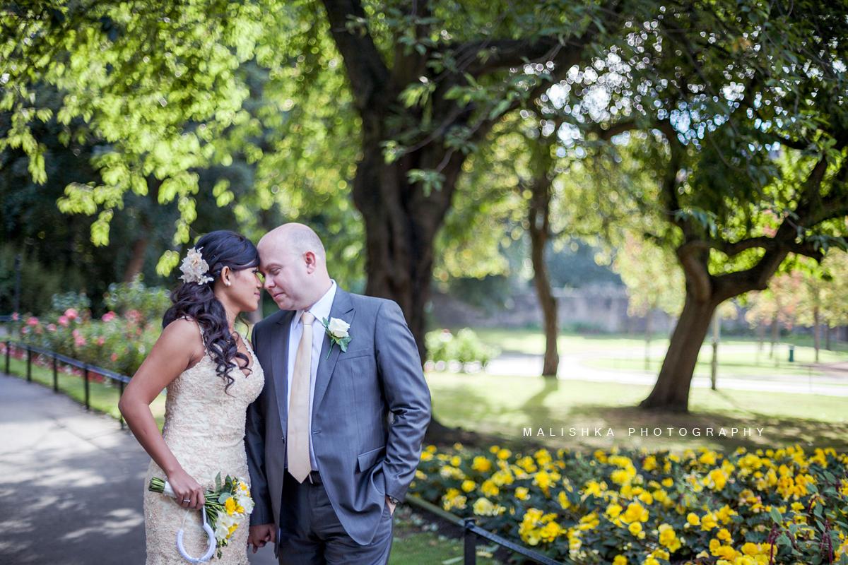 Wedding photography in the city of Edinburgh