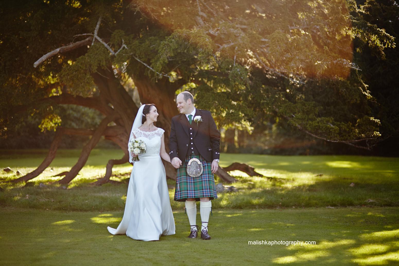 Malishka Photography capturing the wedding at Oxenfoord Castle