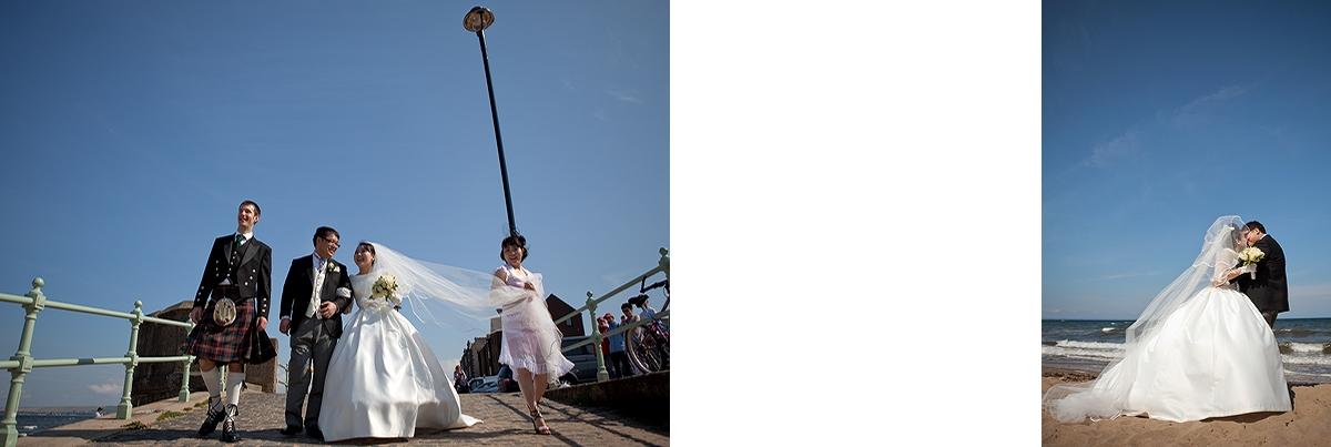 Japanese couple wedding photos in Edinburgh