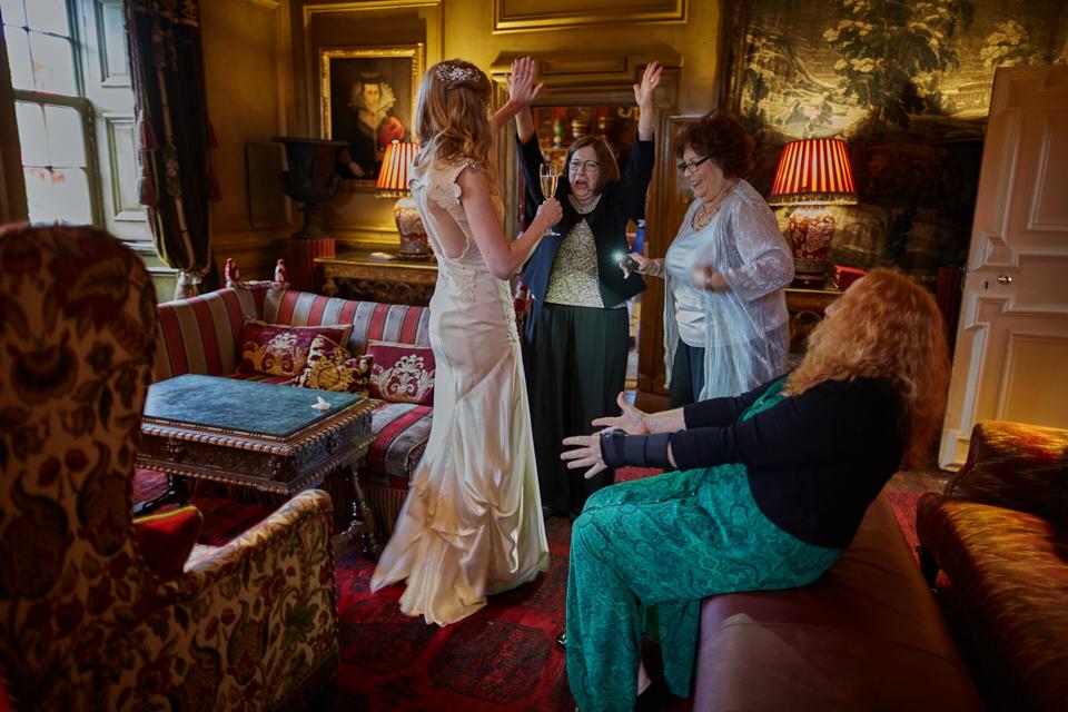 Funny moments at Edinburgh wedding