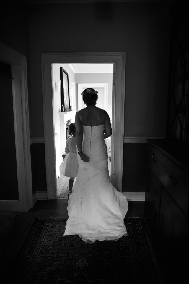 Bride walking to the ceremony
