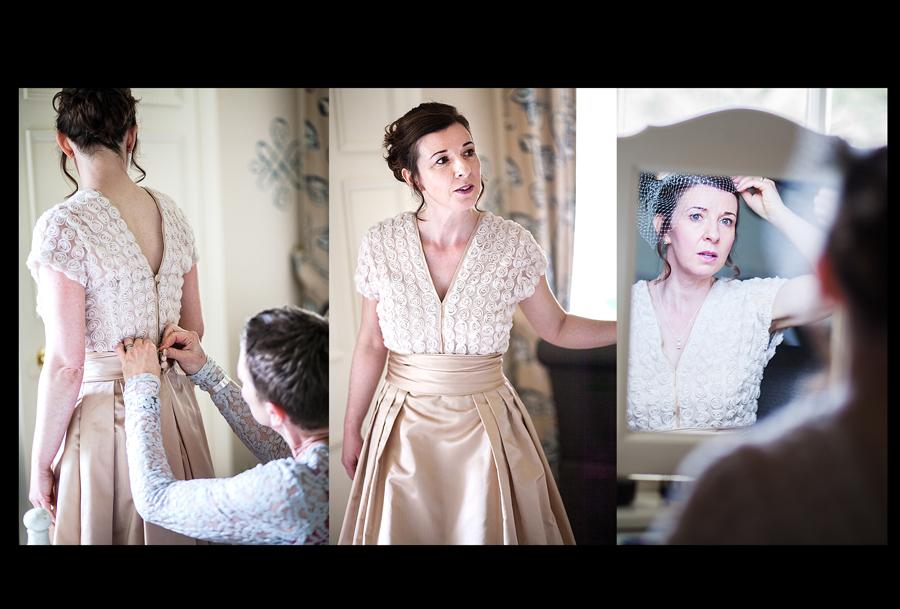 Bride getting ready at Cringletie House wedding near Edinburgh
