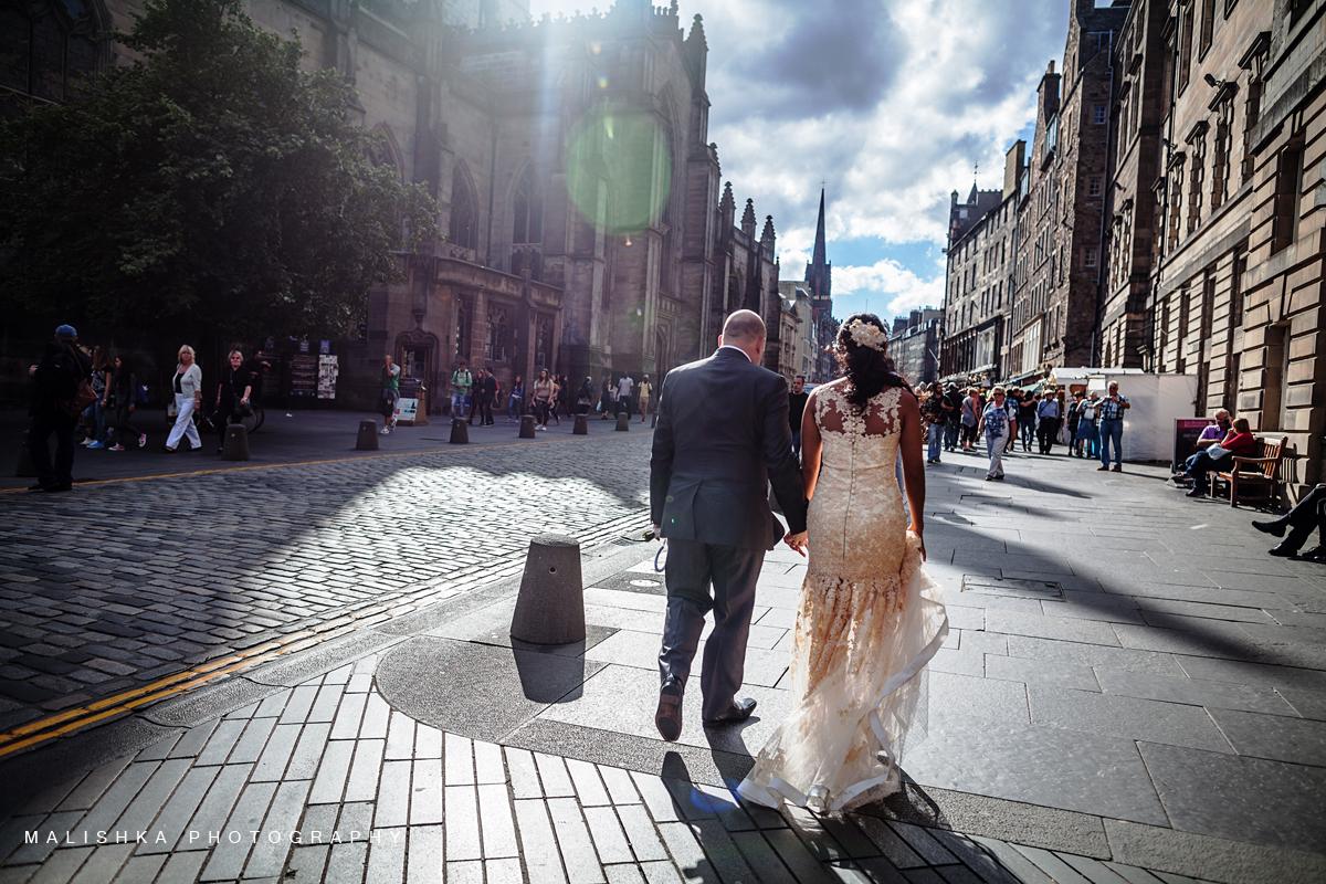 Edinburgh Photographer working on a sunny day