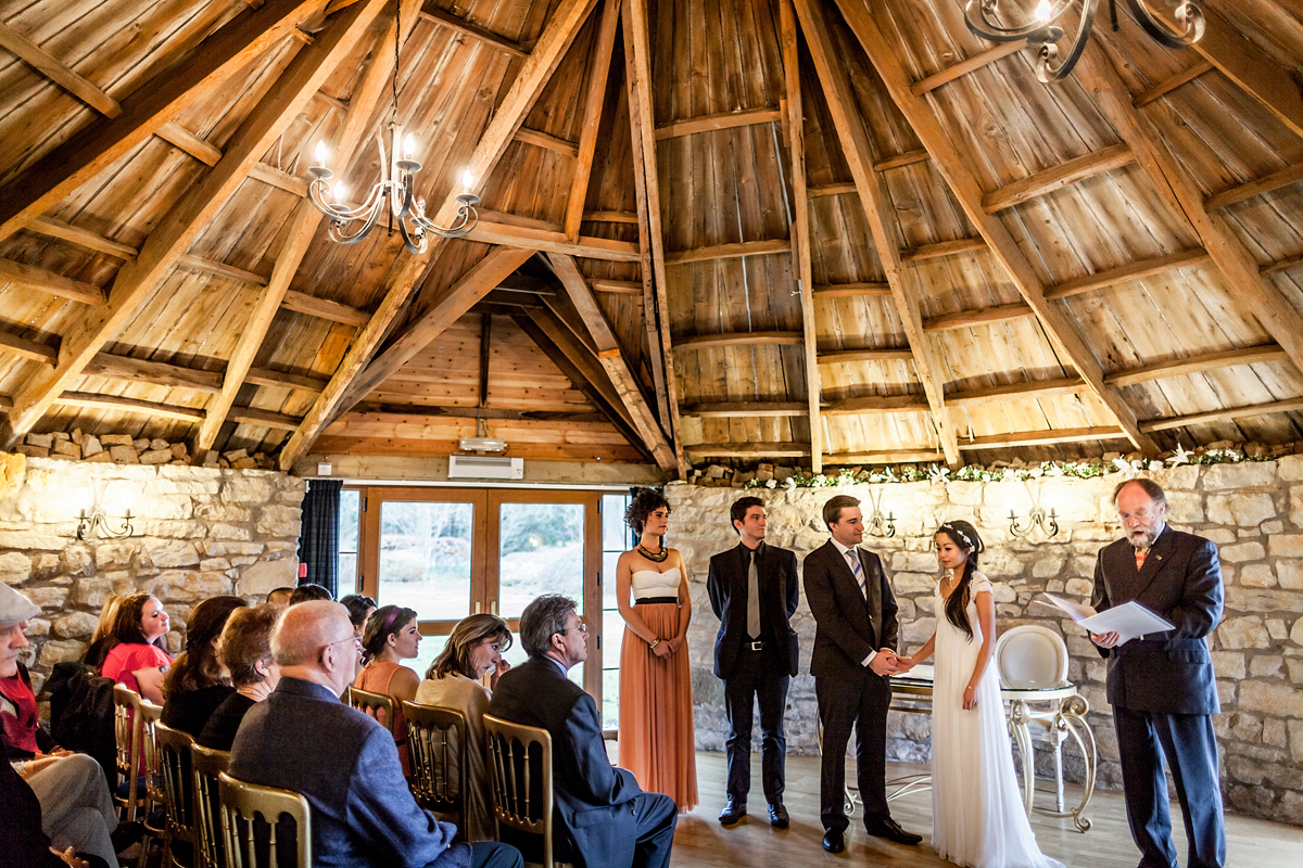 Wedding ceremony at Harburn House in West Lothian