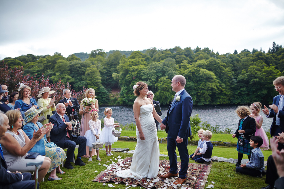 Happy bride & groom
