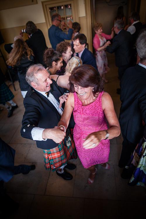 Guests dancing at Culzean Castle Wedding