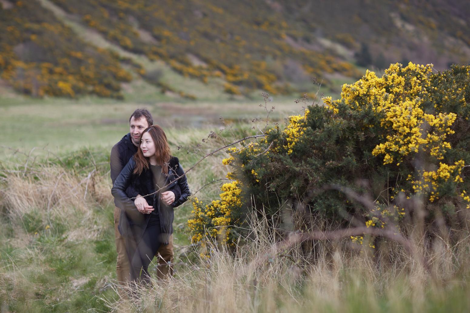 Romantic couple portraits Scotland, Edinburgh