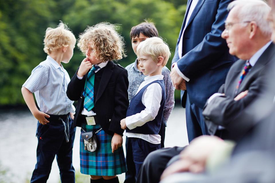 Kids at weddings in Scotland