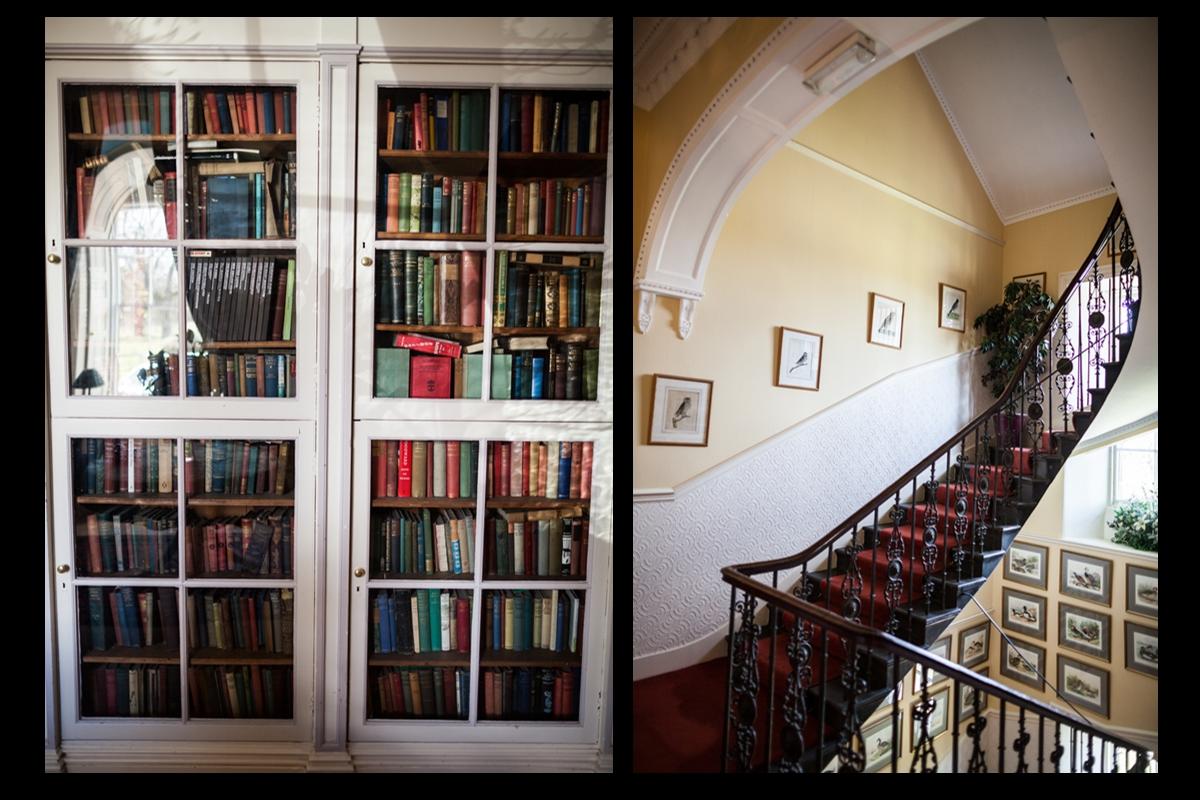 Interiors of Harburn House in West Lothian