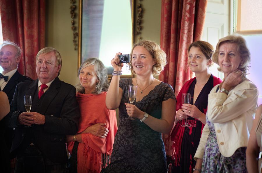 guests having fun at Culzean Castle Wedding