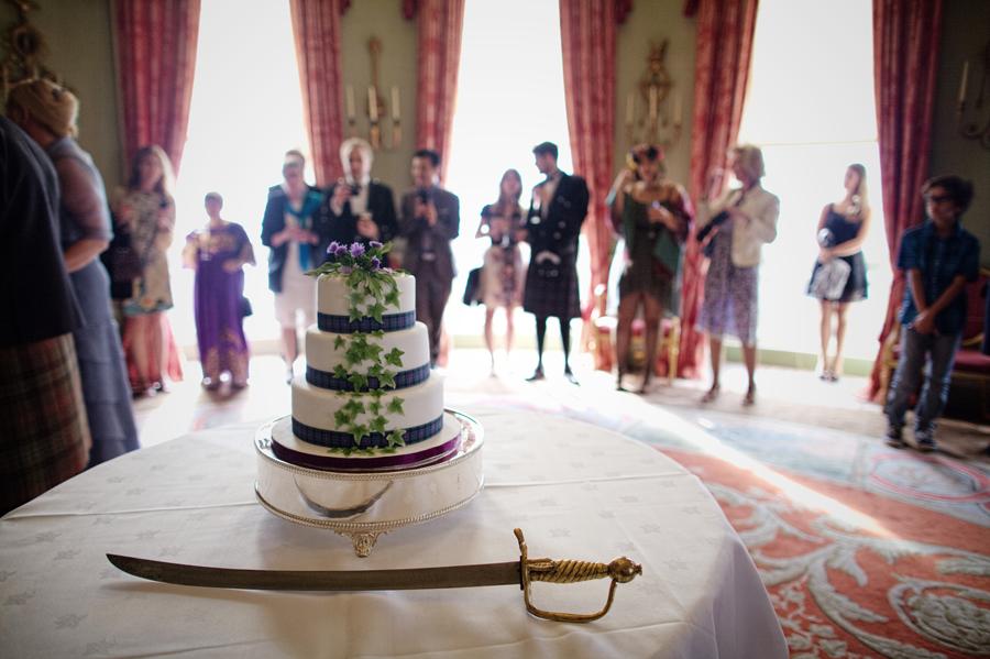 cake at the Culzean Castle Wedding