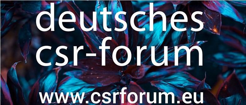 Teilnahme am Deutschen CSR-Forum (29.-30.04.2020)