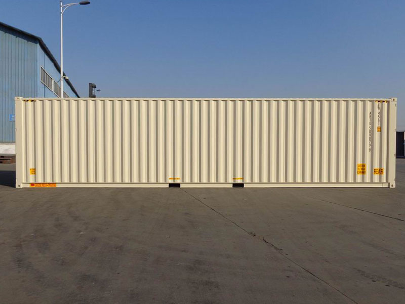 40' High Cube Double Door One Trip Container Side