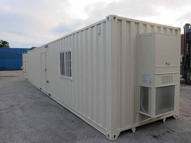 40' Office Storage Combo Container Back