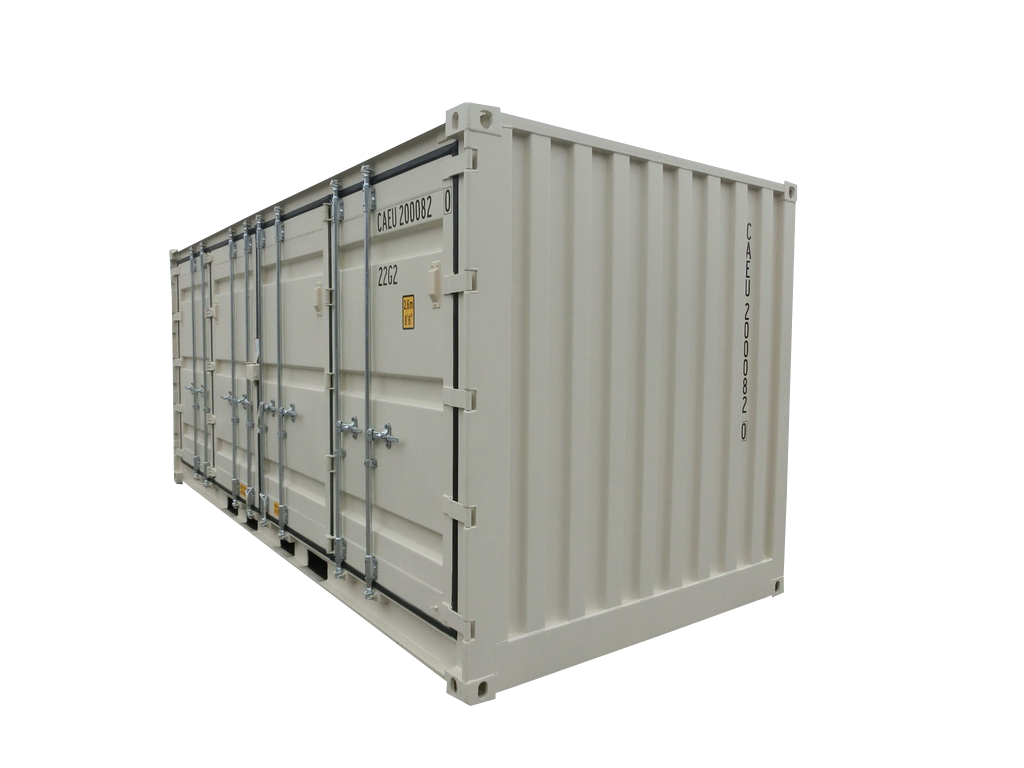 20' Open Side One Trip Container