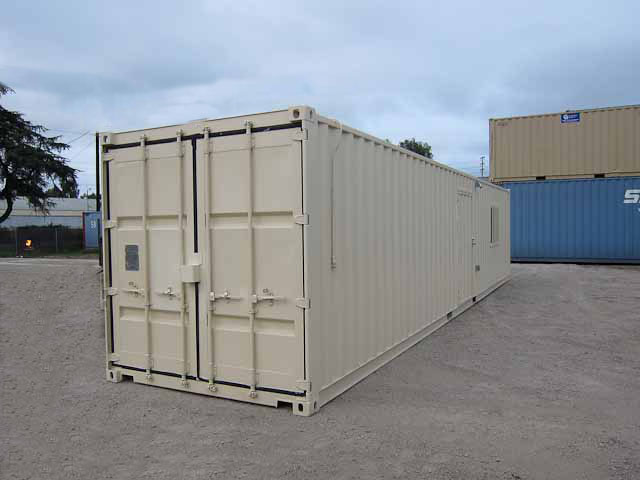 40' Office Storage Combo Container Beige