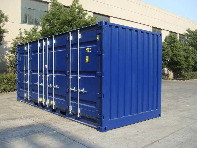 20' Open Side One Trip Container Blue