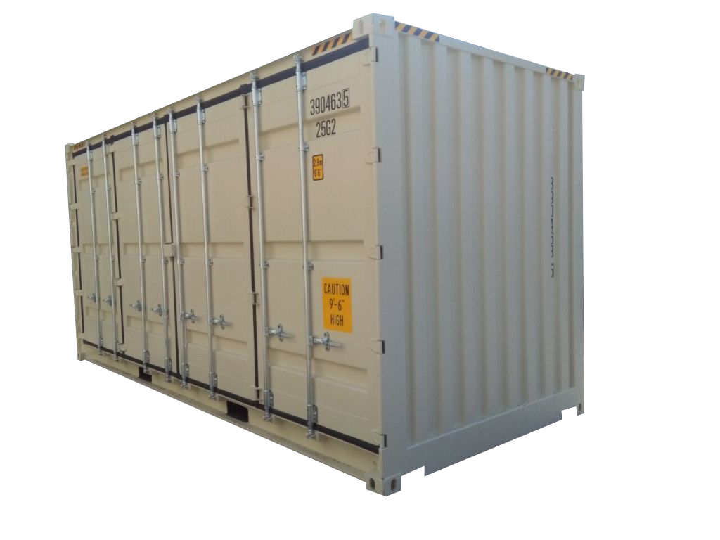 20' High Cube Open Side One Trip Container