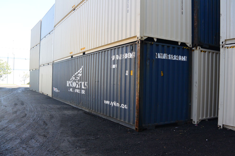 40' High Cube Cargo Worthy Container Blue Stack