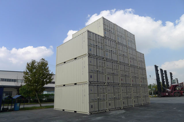 20' One Trip Container Stacked
