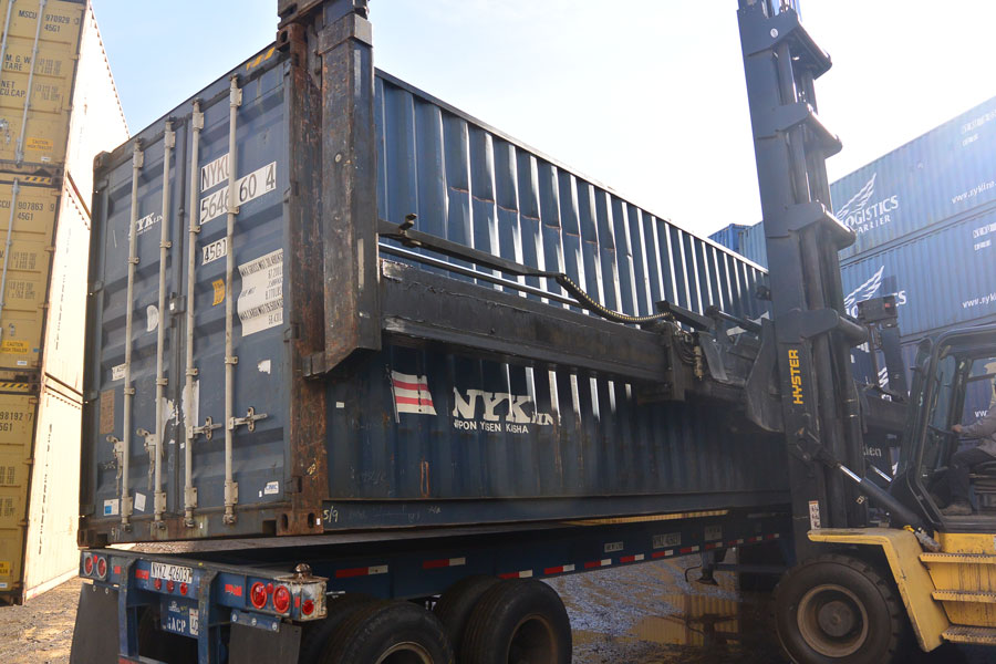 40' High Cube Cargo Worthy Container Blue Lift