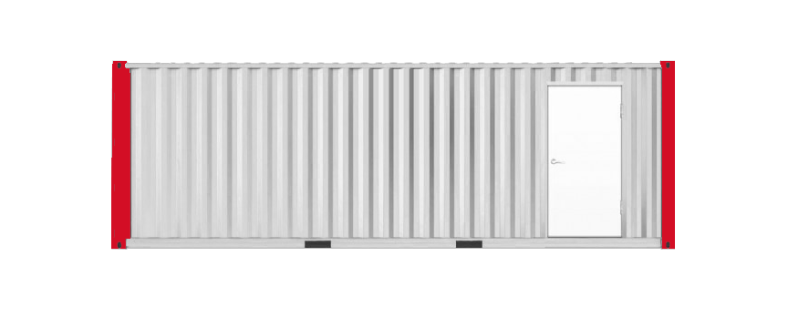 40' Office Storage Combo Container