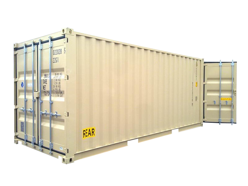 20' High Cube Double Door One Trip Container
