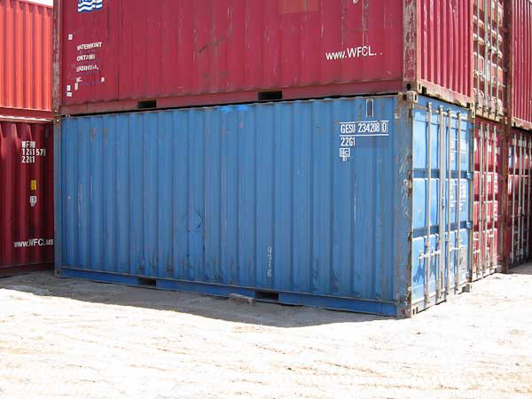 20' Wind and Water Tight Container Stacked