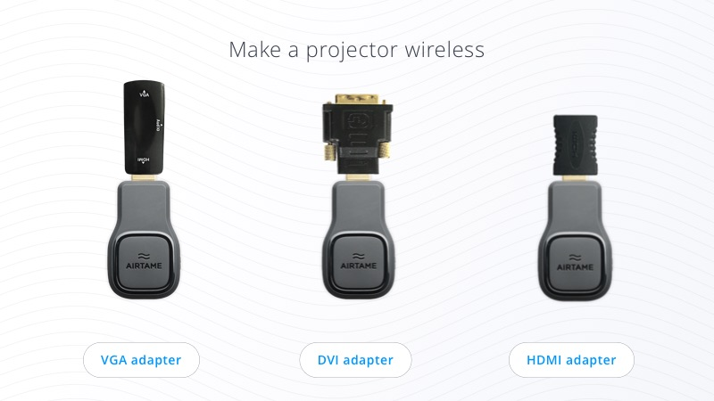 Cableless projector adapters