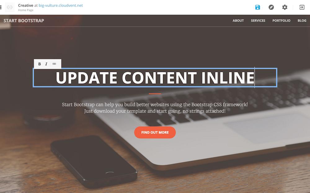 CloudCannon update inline
