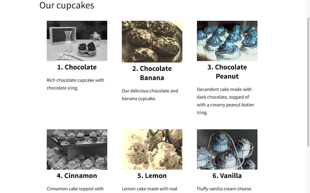 Cupcakes Index