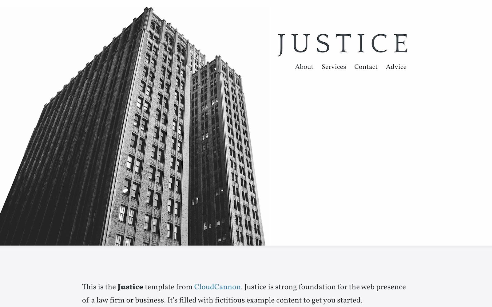 Justice Jekyll template