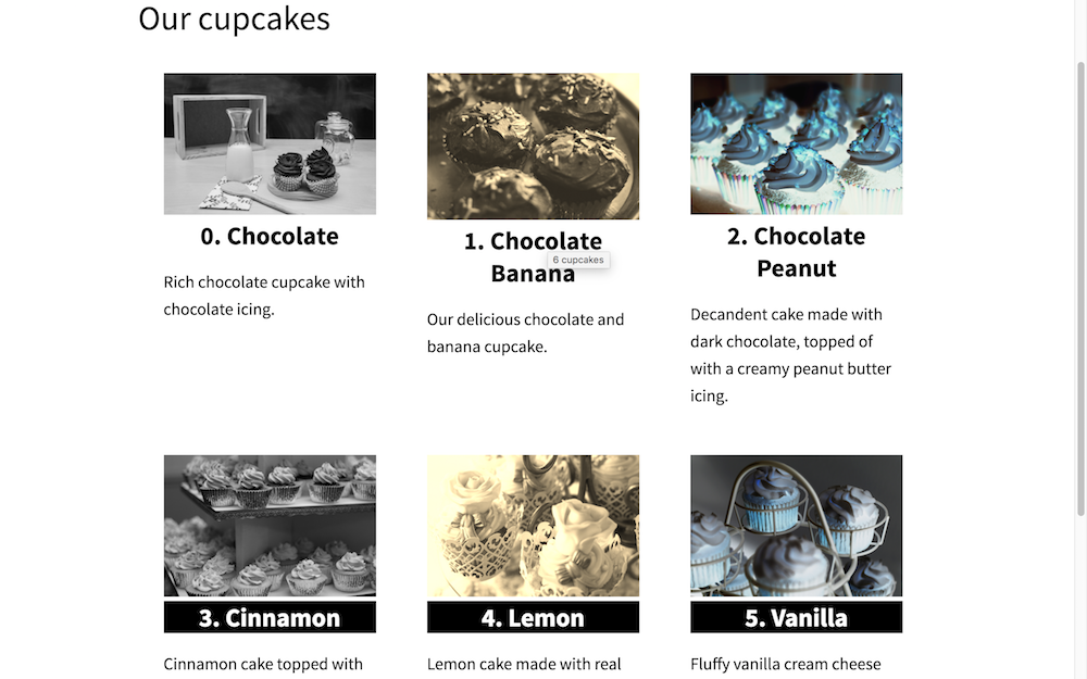 Cupcakes title